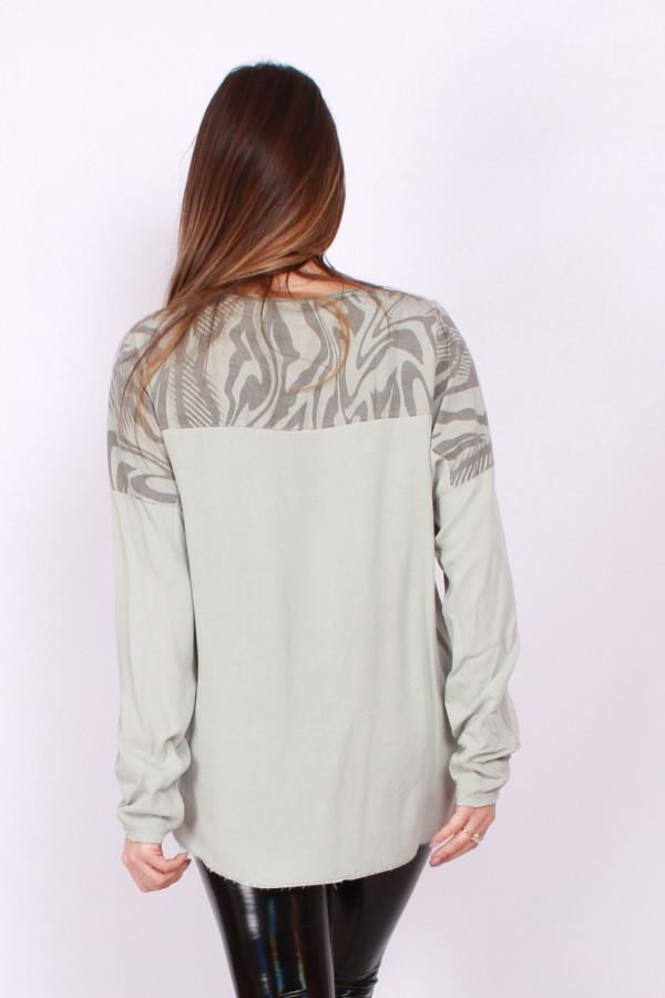 Bluzka z printem zebra 2