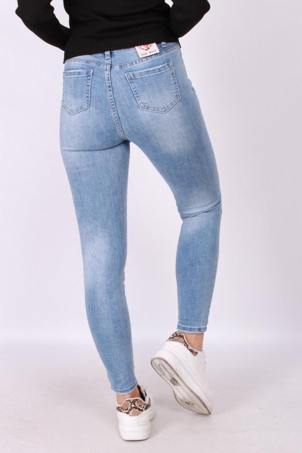 Przecierane spodnie z ozdobnym paskiem 2