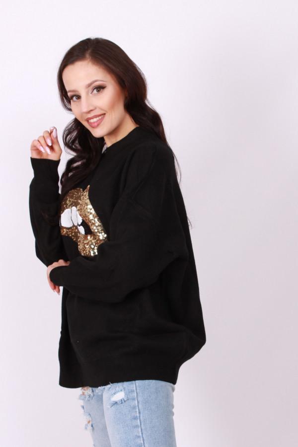 Sweter cekinowe usta 2