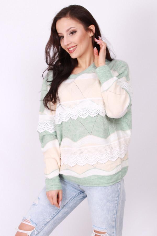 Sweter z falbanką 1
