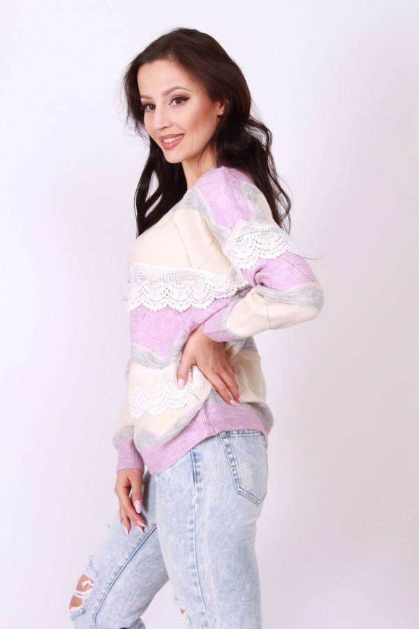 Sweter z falbanką 3