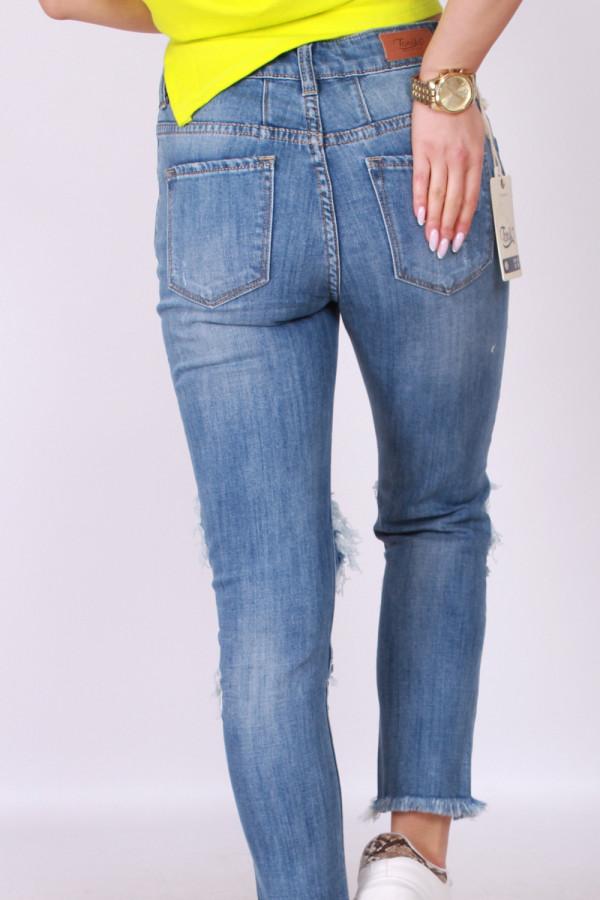 Spodnie jeansowe z dziurami 2