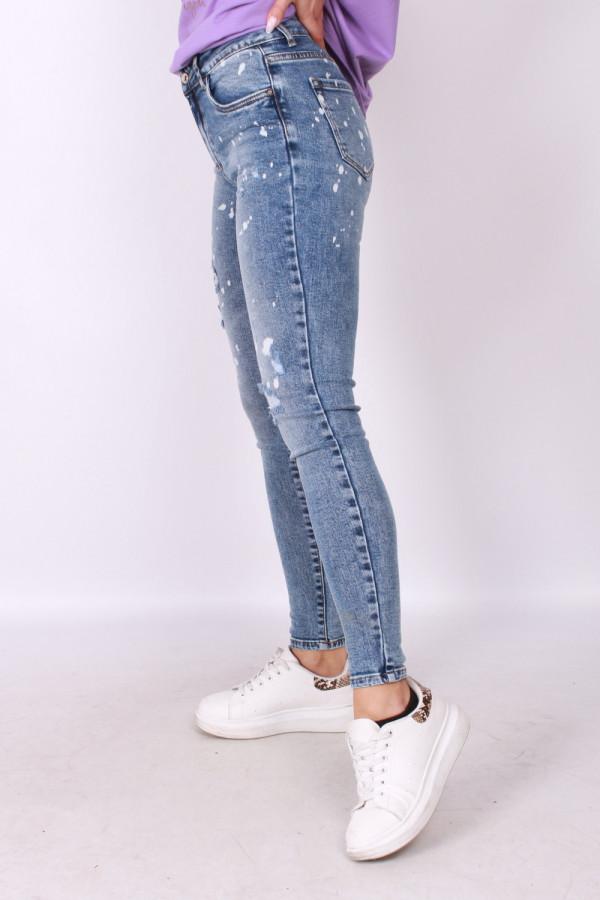 Spodnie jeansowe z plamami 1