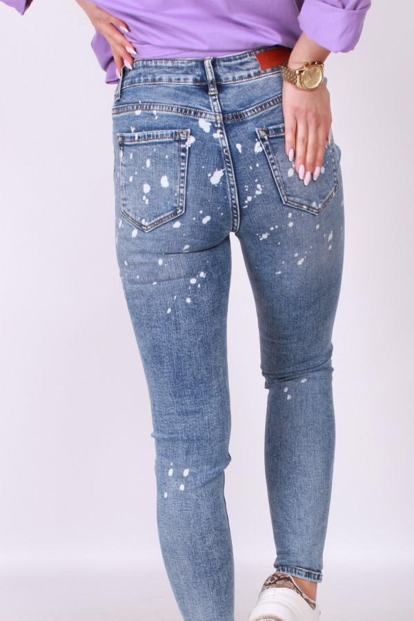 Spodnie jeansowe z plamami 2
