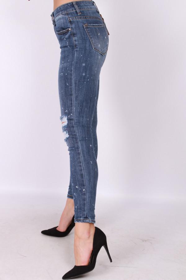 Spodnie jeansowe z przetarciami kosmo 1