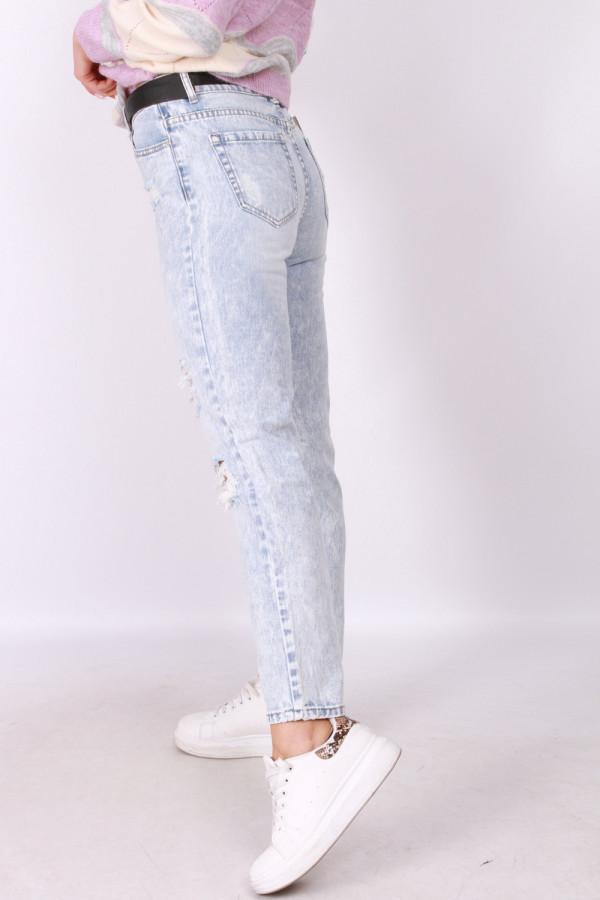 Spodnie z przetarciami jasny jeans 1
