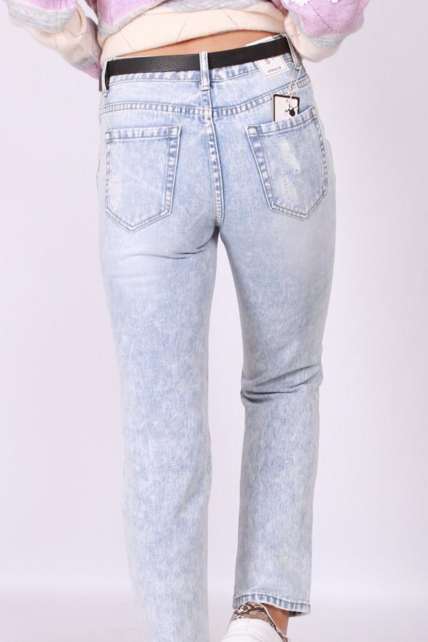 Spodnie z przetarciami jasny jeans 2