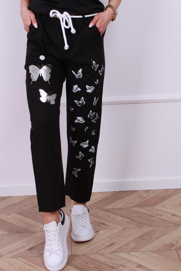 Spodnie lniane motyl 1
