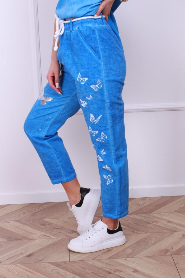 Spodnie lniane motyl 3