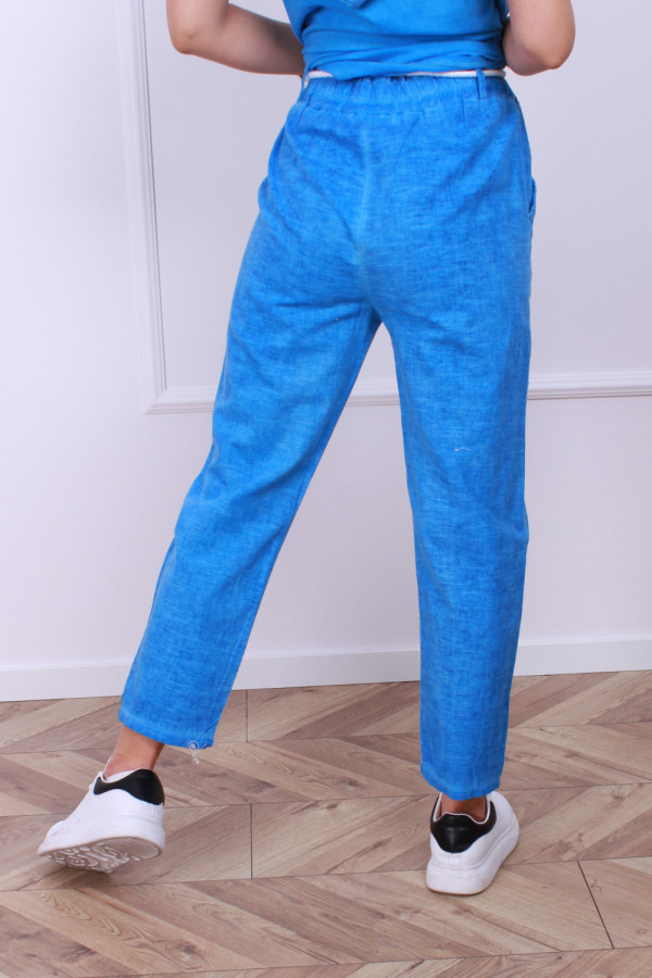 Spodnie lniane motyl 4