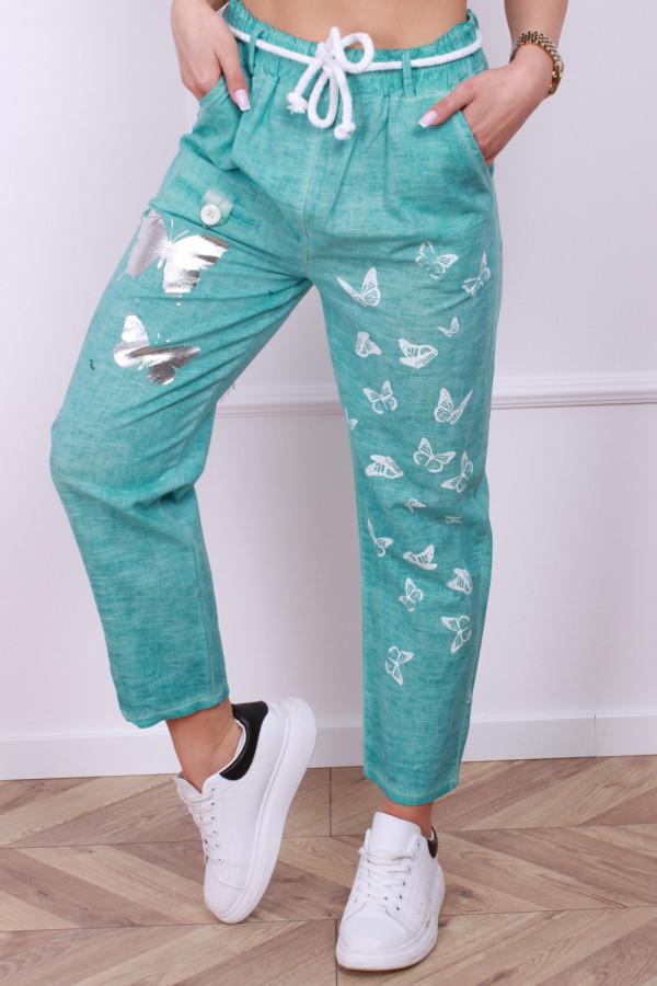 Spodnie lniane motyl 5