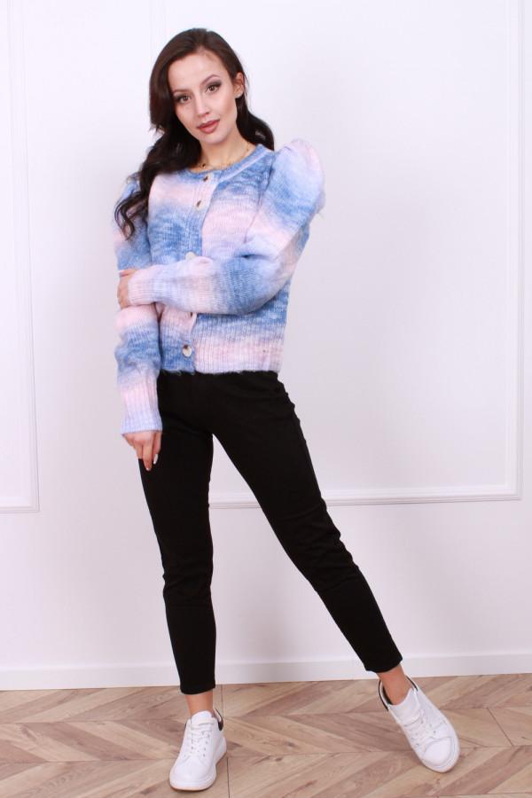 Sweter multikolor z bufkami 1