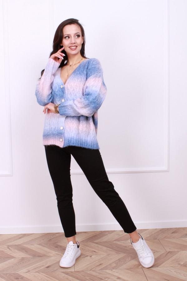 Sweter multikolo rozpinany