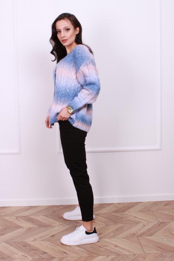 Sweter multikolo rozpinany 1
