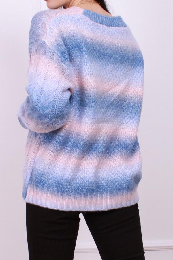 Sweter multikolo rozpinany 2