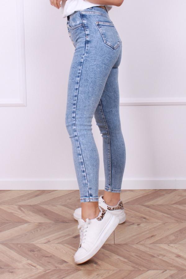 Spodnie jeans z guzikami 1
