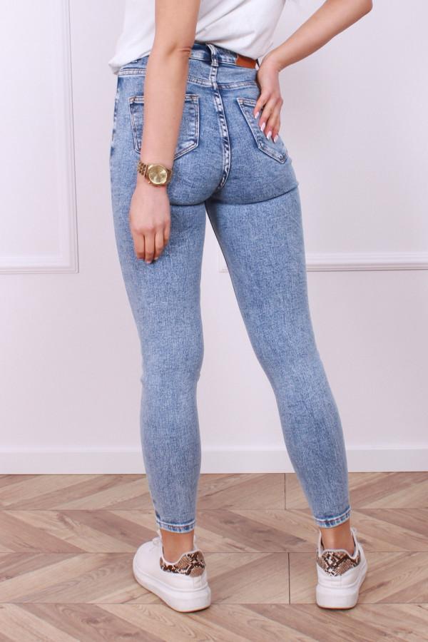 Spodnie jeans z guzikami 2