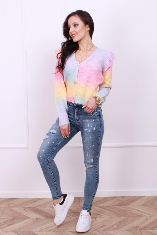 Spodnie z przetarciami jeans