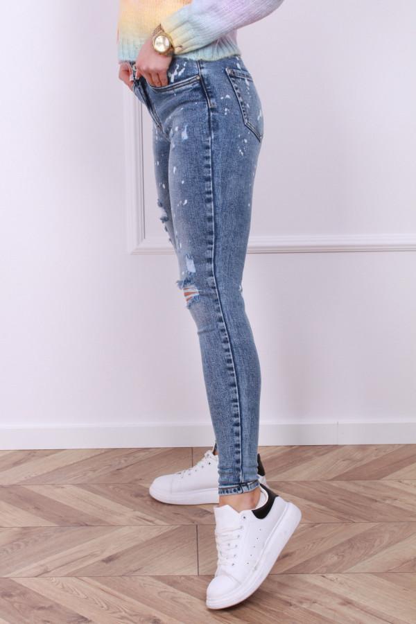 Spodnie z przetarciami jeans 1