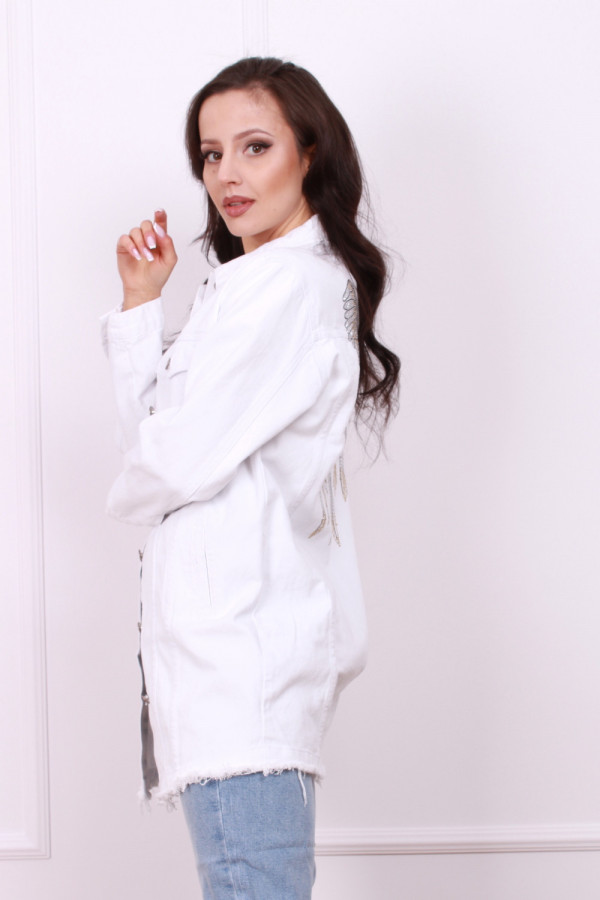 Kurtka biały jeans 1