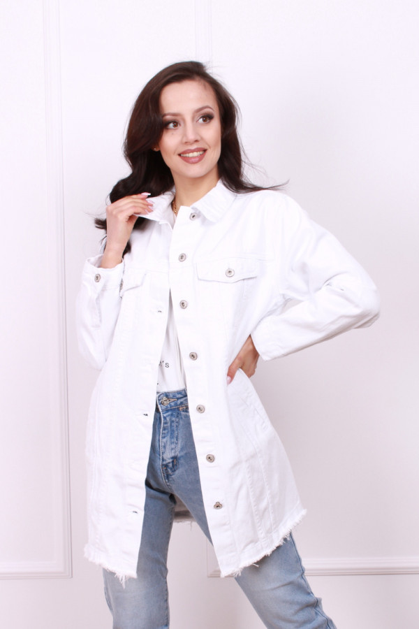 Kurtka biały jeans