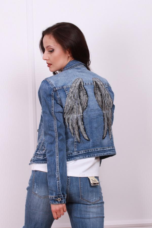 Kurtka jeansowa ze skrzydłami