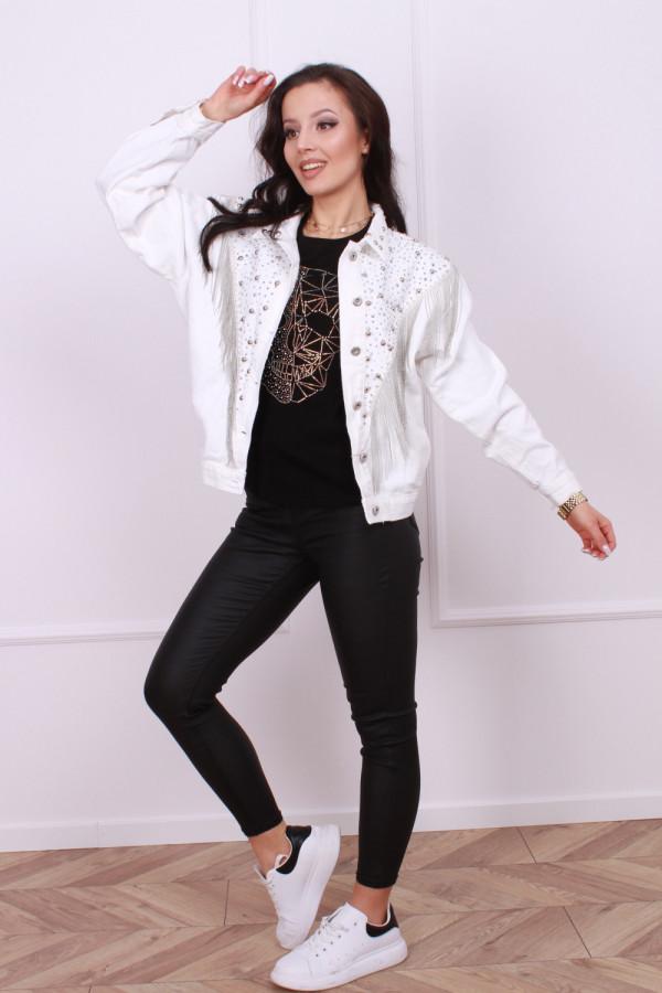 Kurtka jeansowa biała