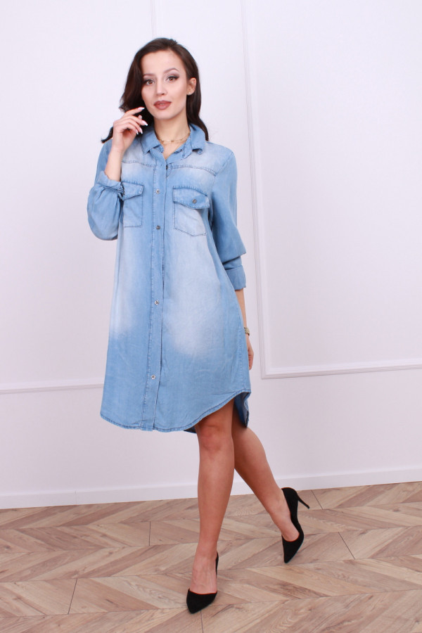 Sukienka jeansowa z kieszonkami 1
