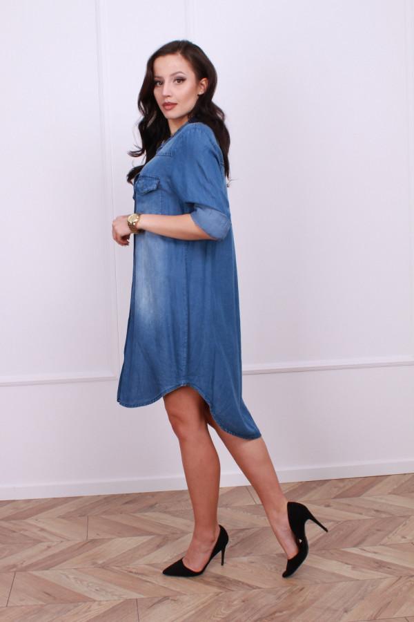 Sukienka jeansowa z kieszonkami 2