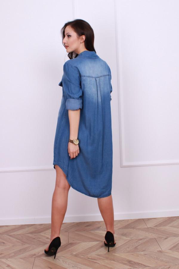 Sukienka jeansowa z kieszonkami 3