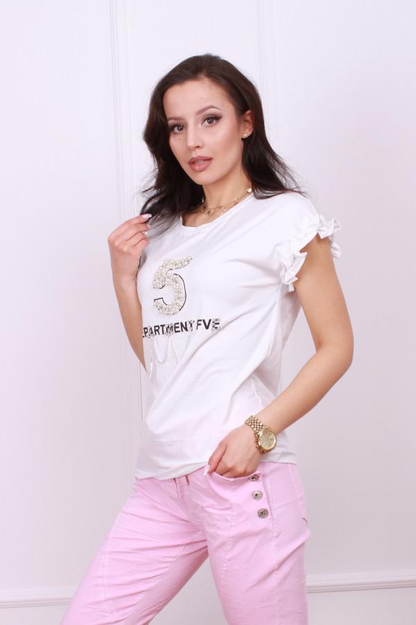 T-shirt z perłami 1
