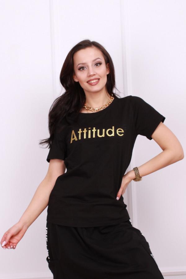 T-shirt z aplikacja 3d 2