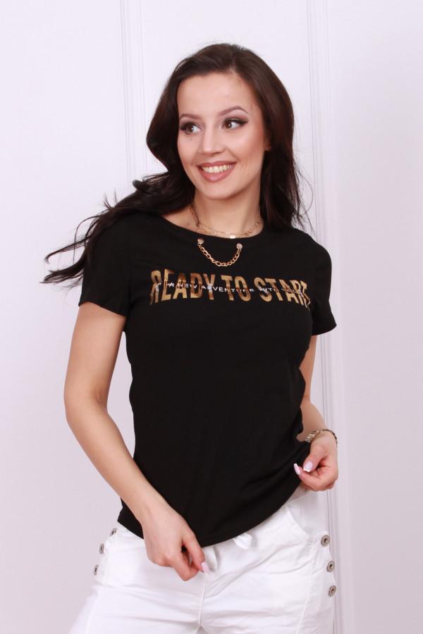 T-shirt z ozdobnym łańcuszkiem