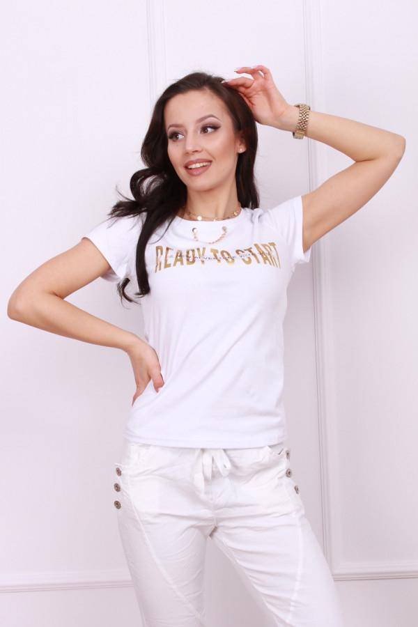 T-shirt z ozdobnym łańcuszkiem 1