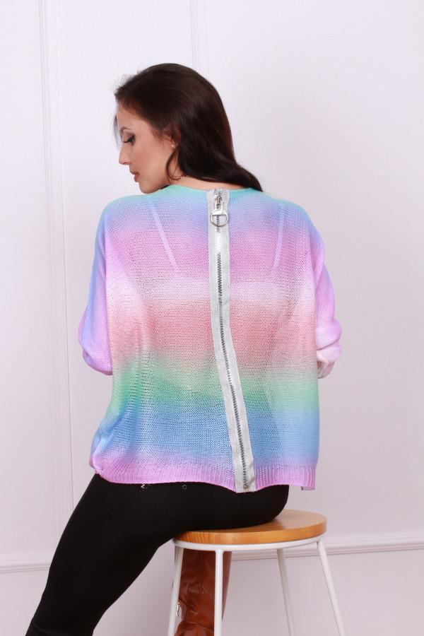 Sweterek tęczowy 5
