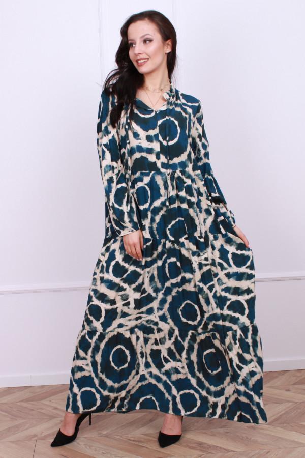 Sukienka maxi obręcze