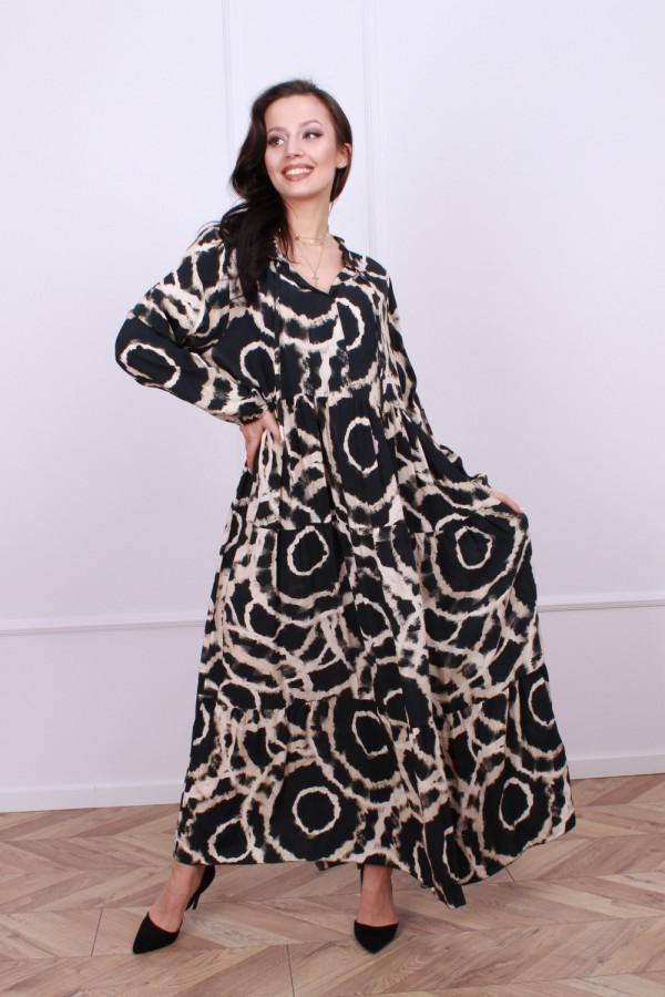Sukienka maxi obręcze 2