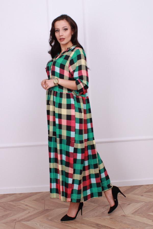 Sukienka maxi krata 3