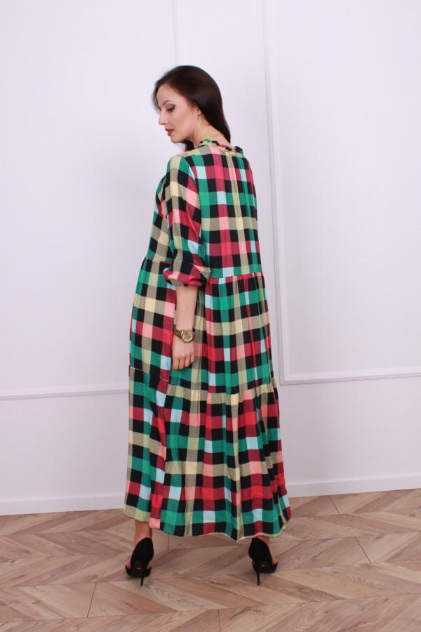 Sukienka maxi krata 4