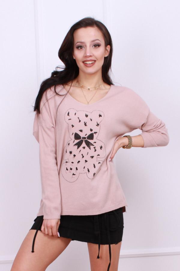 Sweter z wzorem misia