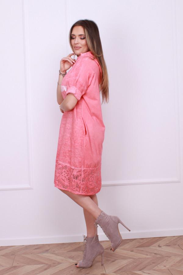 Sukienka lniana z koronką 8