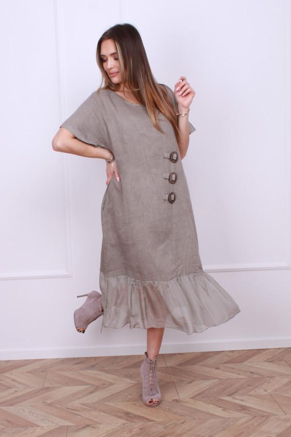 Sukienka lniana z jedwabiem 1