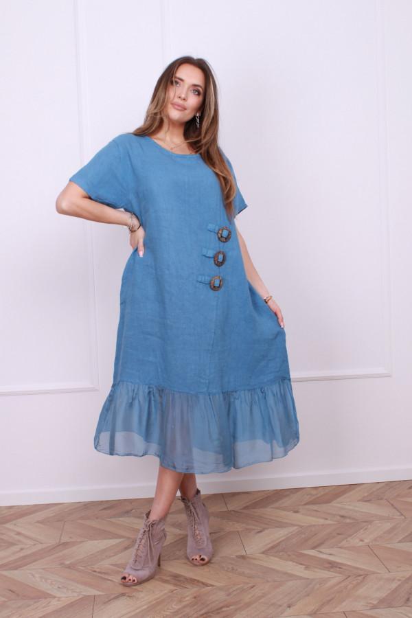 Sukienka lniana z jedwabiem 2