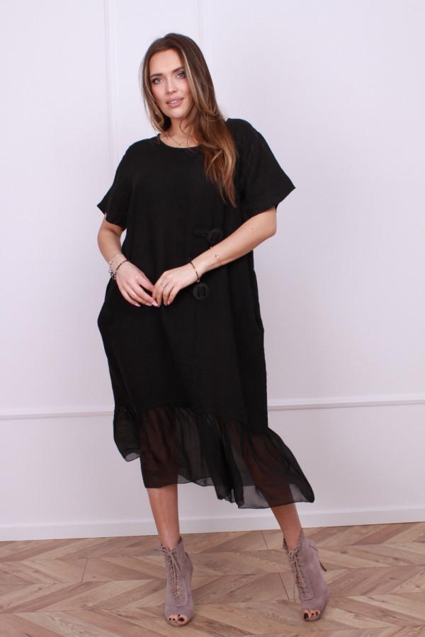 Sukienka lniana z jedwabiem 3