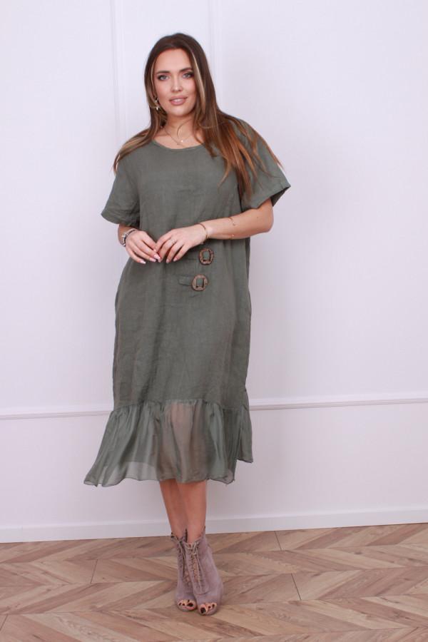 Sukienka lniana z jedwabiem 4