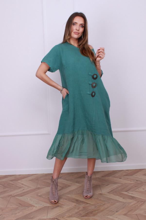Sukienka lniana z jedwabiem 5
