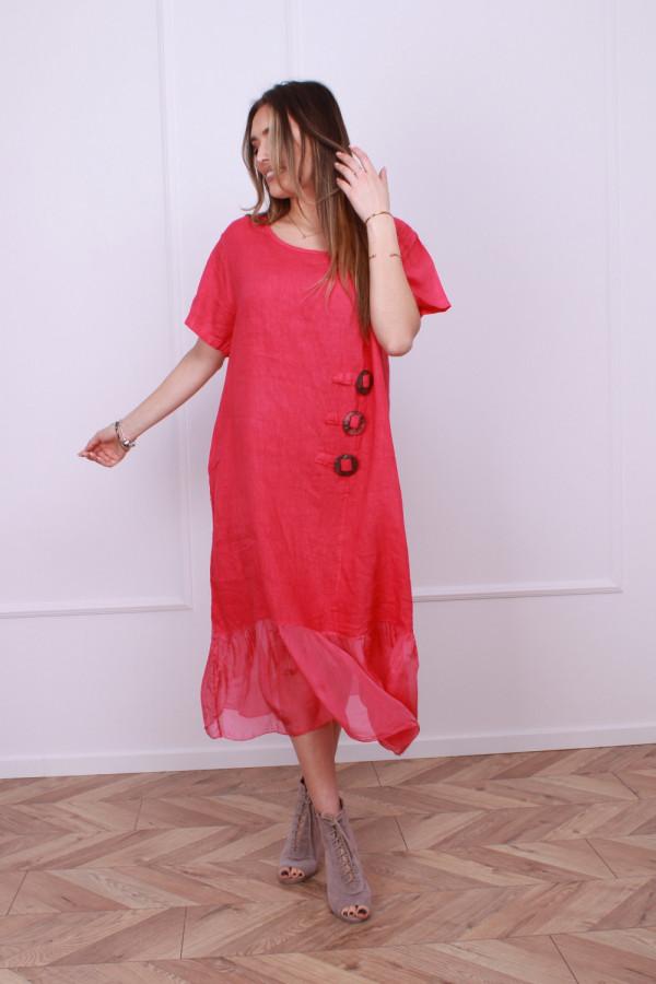 Sukienka lniana z jedwabiem 6