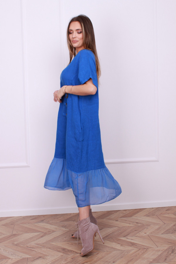Sukienka lniana z jedwabiem 7