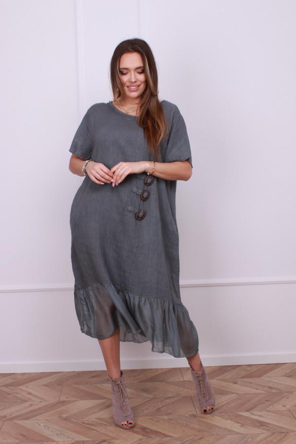 Sukienka lniana z jedwabiem 8