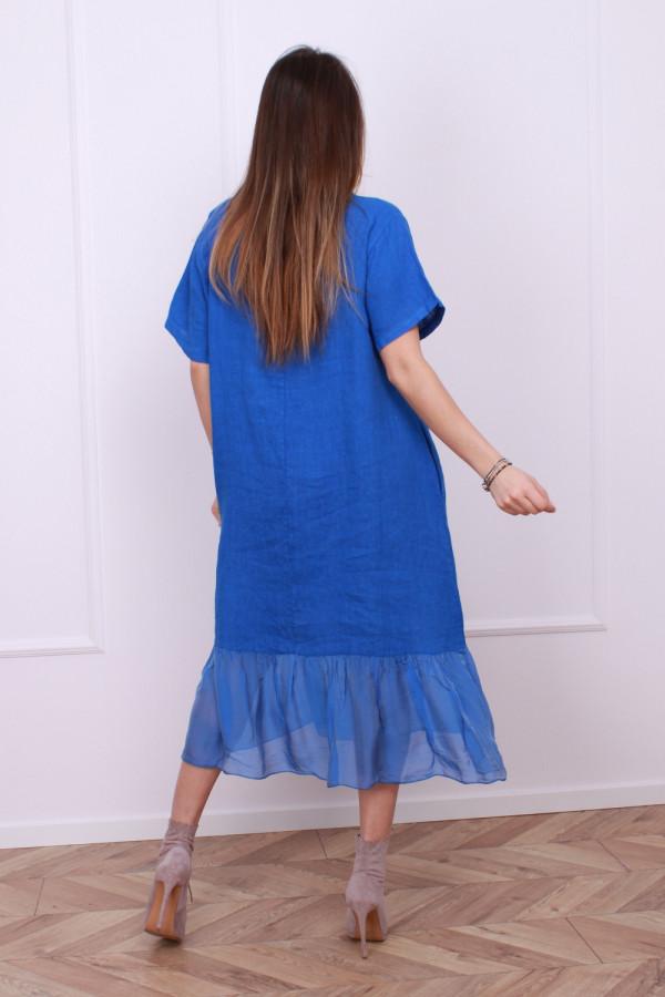 Sukienka lniana z jedwabiem 10